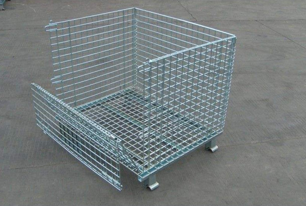 Wire mesh storage cage elagant surface sturdy and durable